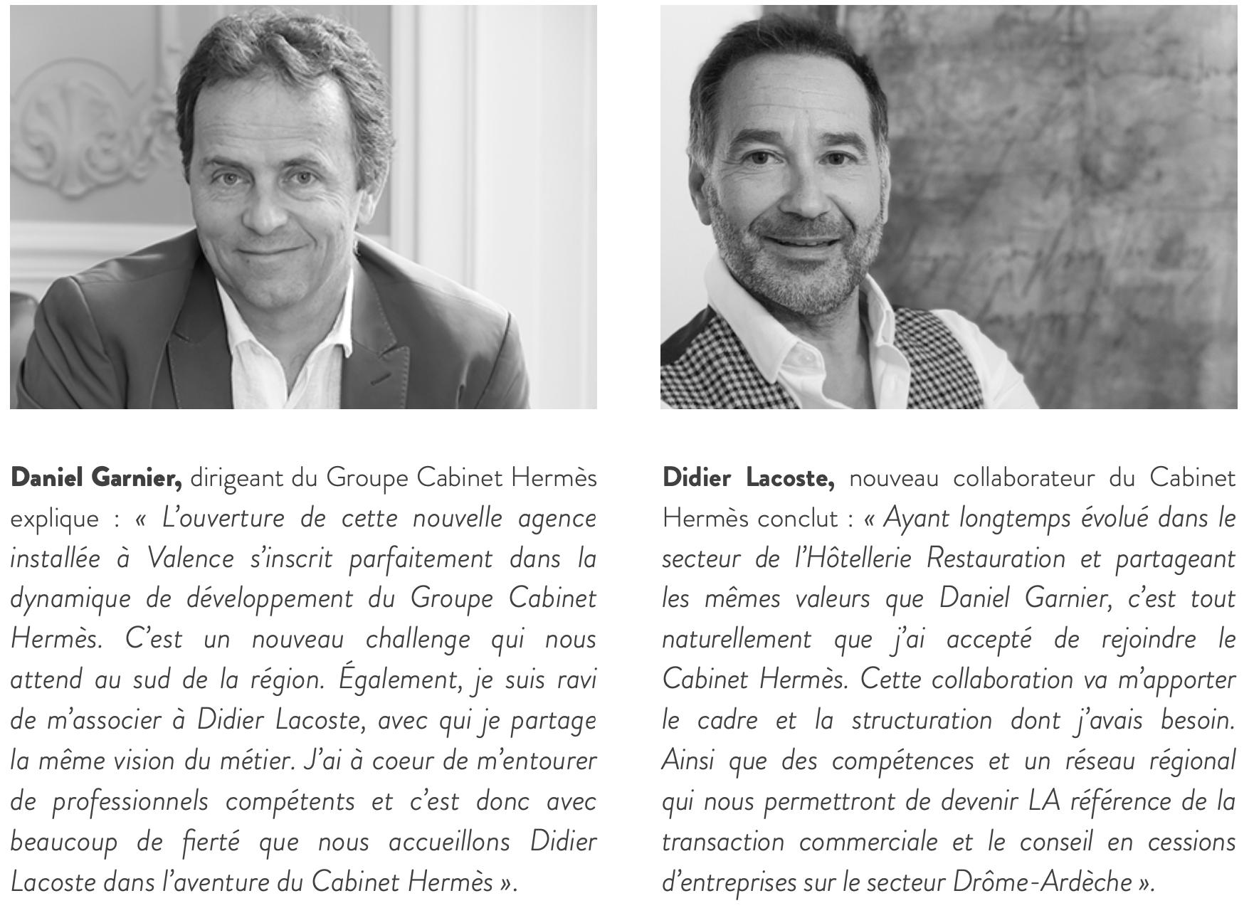 Daniel Garnier et Didier Lacoste